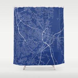 Fayetteville Map, USA - Blue Shower Curtain
