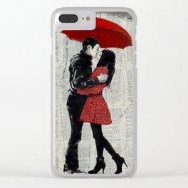 rain kisses Clear iPhone Case