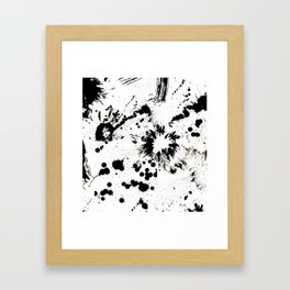 MONOCHROME SPLATTER Framed Art Print