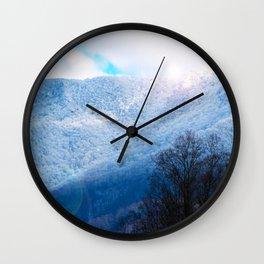 Winter Mountain Wall Clock