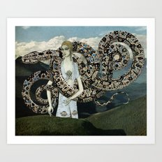 Serpents and Mountains Art Print