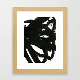 black on white 1 Framed Art Print
