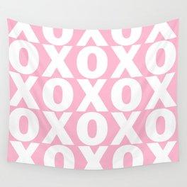XOXO - Light Pink Pattern Wall Tapestry