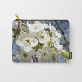 Cherry Tree Blossom Over Spring Blue Sky Carry-All Pouch