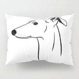 Italian Greyhound (Black and White) Pillow Sham