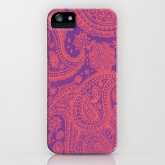 Purple Paisley Slim Case iPhone (5, 5s)
