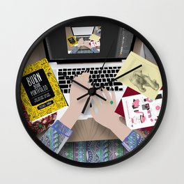 my messy desk Wall Clock