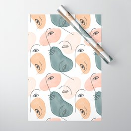 Minimal Figurative Pattern Wrapping Paper