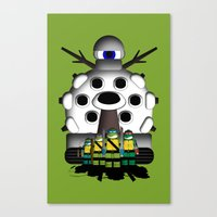 ninja turtles Canvas Prints featuring Turtles by AWOwens