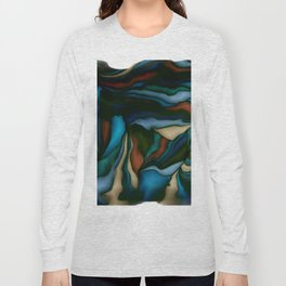 blue smudge Long Sleeve T-shirt