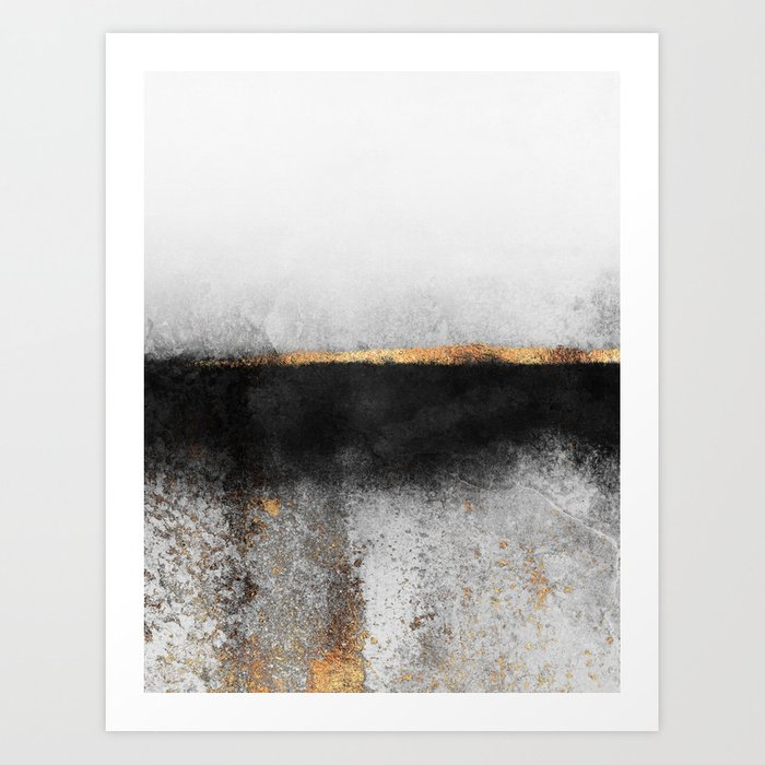 Soot And Gold Art Print