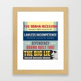 Failed President Obama  Framed Art Print