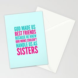 GOD MADE US BEST FRIENDS BECAUSE (TEAL) Stationery Cards
