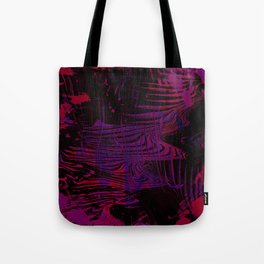 Disoriented Palette; Pink, Black and Purple Tote Bag