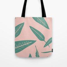 Leaves pink Tote Bag