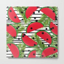 Tropical Watermelons Metal Print