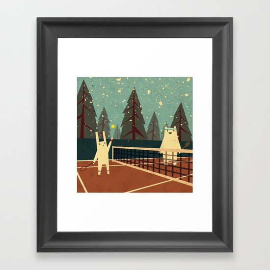 First Snow Framed Art Print
