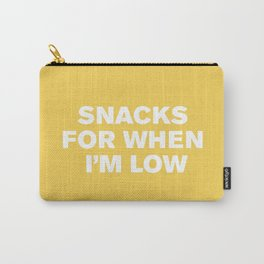Snacks For When I'm Low™ (Primrose) Carry-All Pouch