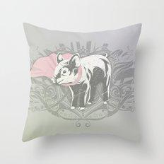 Fearless Creature: Oinx Throw Pillow