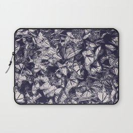 Indigo butterfly photograph duo tone blue and cream Laptop Sleeve