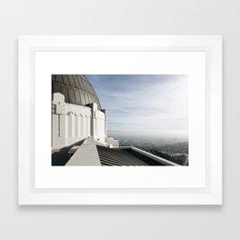 Griffith Park Overlook Framed Art Print