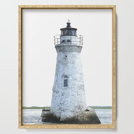 Lighthouse Illustration Serving Tray
