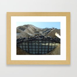 Gaudi From Below Framed Art Print