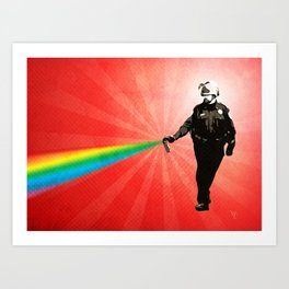 Pepper Spray Cop Rainbow - Pop Art Art Print
