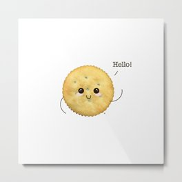 Super Cute Realistic Cracker Kawaii (Clever huh?) :p Metal Print