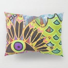 Feathered Eye Original Artwork by Rachael Rice Pillow Sham