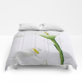 Watercolour Callalily Comforters