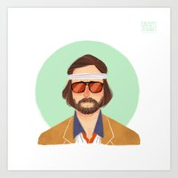 tenenbaum Art Prints featuring Richie Tenenbaum by Galaxyspeaking