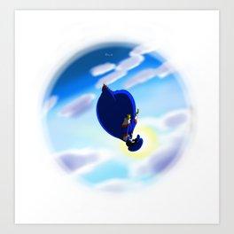 Falling Sky Art Print