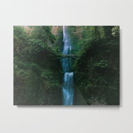 Waterfall Landscape (Color) Metal Print