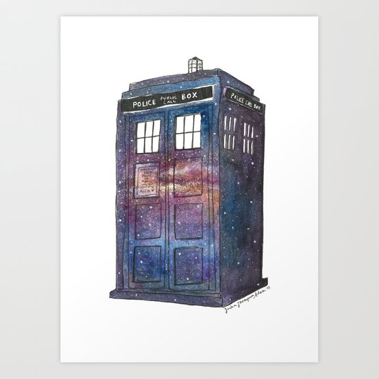 Doctor Who Galaxy Tardis Art Print