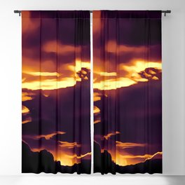 cloudy burning sky reacls Blackout Curtain
