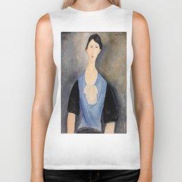 "Amedeo Modigliani ""Young Woman in Blue"" Biker Tank"