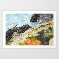 The sea and the color Art Print