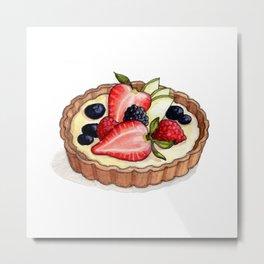 Desserts: Fruit Tart Metal Print