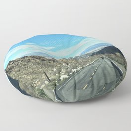 Mountain Road in Palm Springs California Floor Pillow