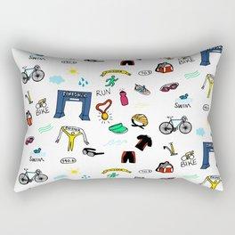 Triathlon Doodles Rectangular Pillow