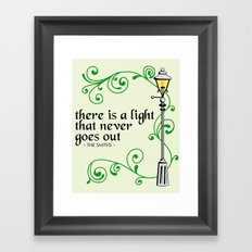 There is a Light that Never Goes Out Framed Art Print