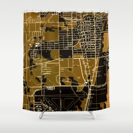 Fort Lauderdale old map year 1949, united states old maps Shower Curtain
