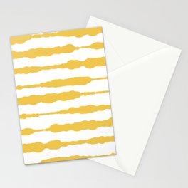 Macrame Stripes in Mustard Yellow and White Stationery Cards