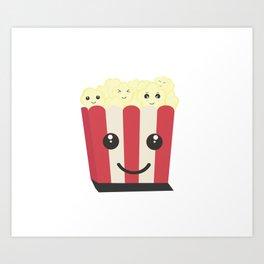 Popcorn kawaii box Art Print