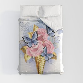 Waffle Cone with Pink Roses Comforters