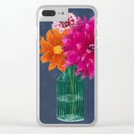 Dahlien Clear iPhone Case