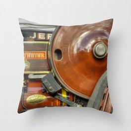Fowler Road Locomotive Throw Pillow
