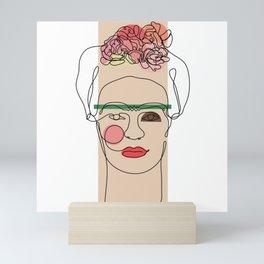 Frida Kahlo Line Art Mini Art Print