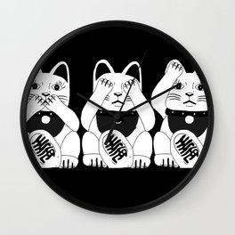 Three Smart Cats Wall Clock